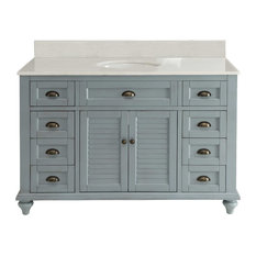 "Chans Furniture - Glennville Vanity Set, Light Blue, 49"" - Bathroom Vanities and Sink Consoles"