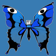 Blue Moth Painting's photo