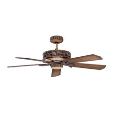 50 most popular rustic ceiling fans for 2018 houzz concord fans 52 ponderosa ceiling fan for wet location old world leather mozeypictures Choice Image