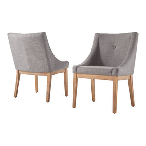 Keighley Button Tufted Dining Chair, Set of 2, Grey