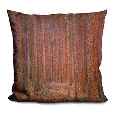 Fir Forest Decorative Accent Throw Pillow