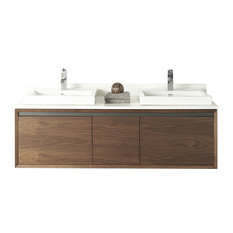 """Fairmont Designs M4 60"""" Double Vanity Natural Walnut Base Cabinet Only"""