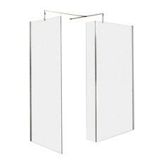 Premier - Wet Room Return Screen With Chrome Bracket - Shower Screens & Doors