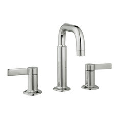 Nature Widespread Faucet Handles and Drain, Polished Nickel