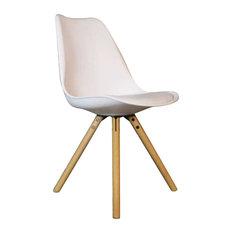 Brandy Plastic Dining Chair, White
