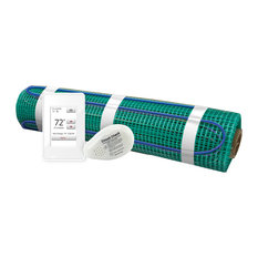 Floor Heating Kit 120V-Tempzone Flex Roll 1.5'x33', Touch Screen Thermostat
