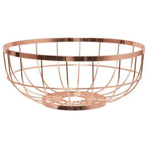 Open Grid Fruit Basket, Copper