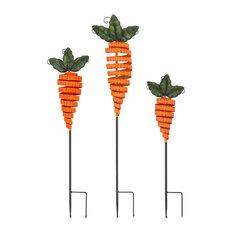 Imax Set Of 3 Carrot Garden Stakes 23341-3