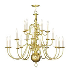 Williamsburg chandeliers houzz livex lighting inc livex lighting 5019 02 williamsburg chandelier in polished brass mozeypictures Image collections