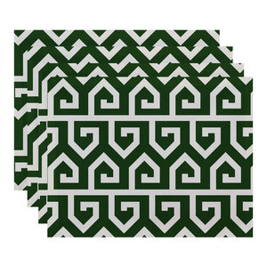 Geometric Placemat Green E by design PT4GN408GR27 18x14 Rope Rigging