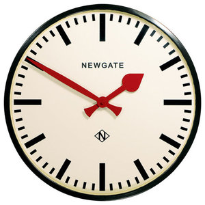 Newgate Putney Wall Clock, Black