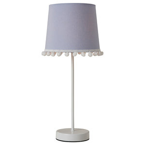 Pom Table Lamp, Light Blue