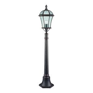 Capri Traditional Outdoor Bollard Lamp Post, Rustic Brown