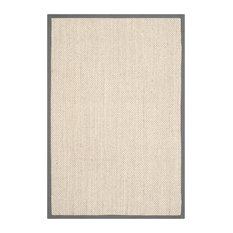 Safavieh Natural Fiber Collection NF443 Rug, Marble/Grey, 5' X 8'