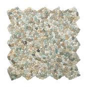 "12""x12"" Mini Sea Green Pebble Tile"