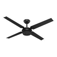 "Hunter Fan Company 54"" Chronicle Matte Black Ceiling Fan With Wall Control"