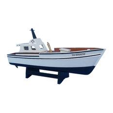 "Wooden Gilligan's Island, Minnow Model Boat, 14"""