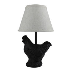 Black Hen Mini Accent Lamp with Shade