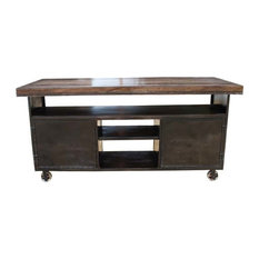 Kitchen Island Industrial Rolling Large Sideboard Buffet Cabinet