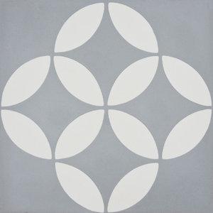 "8""x8"" Amlo Handmade Cement Tile, Gray/White, Set of 12"