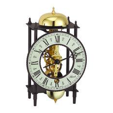 Bonn Skeleton Table Clock, Black