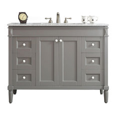 single bathroom vanity with sink. Vinnova  Catania 48 Single Gray Vanity With Carrara White Marble Top Without Mirror Sink Bathroom Vanities Houzz
