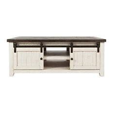 Jofran - Madison County Barn Door Cocktail Table, Vintage White - Coffee Tables