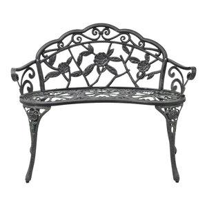 VidaXL Garden Bench, Green Cast Aluminium