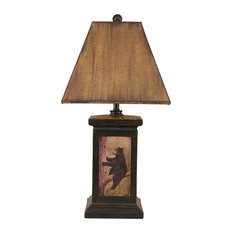 rustic table lamps with a 3 way switch houzz. Black Bedroom Furniture Sets. Home Design Ideas