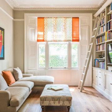 Living room, family home renovation, Hampstead, London