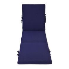 Outdoor Patio Chaise Cushion, Blue