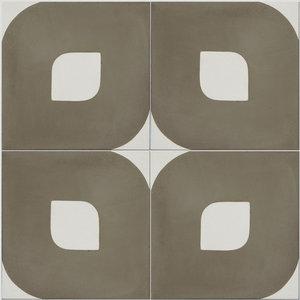 Eye Pattern Tiles, Warm Grey, Set of 12