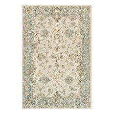 "Ivory/Blue 100% Wool Hand Woven Julian Area Rug by Loloi, 7'9""x9'9"""