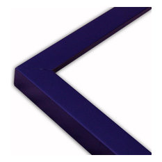 """Narrow Flat Navy Blue Picture Frame, Solid Wood, 16""""x20"""""""