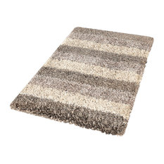 Taupe Modern Non Slip Washable Bathroom Rug, Lounge, Large