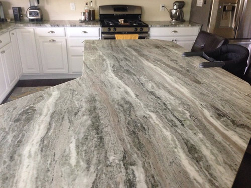 Backsplash For Busy Granite