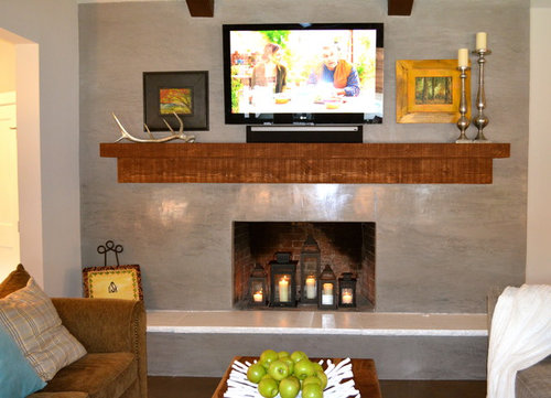 Stucco Over Brick Fireplace Before And After | Home design ideas