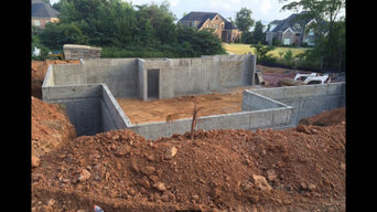 Concrete formed walls