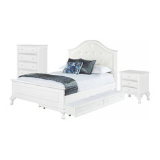 Picket House   Jenna 3 Piece Bed Set With Trundle, Full   Bedroom Furniture