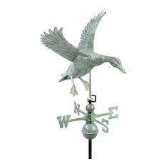 good directions landing duck weathervane blue verde copper weather vanes - Weather Vanes