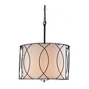 Ancus 3-Light Drum Pendant