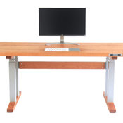 Handmade Standing Desk, Electric Adjustable Height, Solid Cherry Top