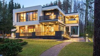 Modern house on the lake