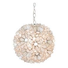 Capiz shell pendant lighting houzz worlds away capiz shell floral venus pendant clear pendant lighting aloadofball Images