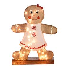 LED Giant Gingerbread Girl