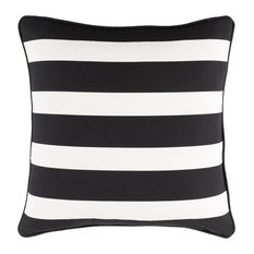 Transitional Pillow Cover With Black and White