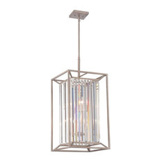 Designers Fountain Linares Cage Chandelier, Aged Platinum
