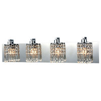Optix 4-Light Vanity Sconce In Polished Chrome With Clear Crystal (11238/4)