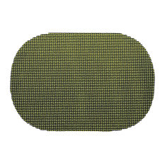 Fishnet Kale Green Oval Placemat
