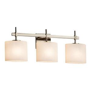 "Justice Design Group FSN-8413-30-OPAL Fusion 24.5"" Union 3 Light Vanity Light"